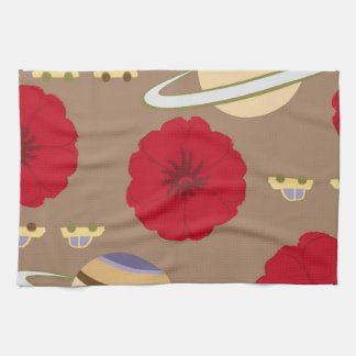 Stars, flowers, and cars tea towels
