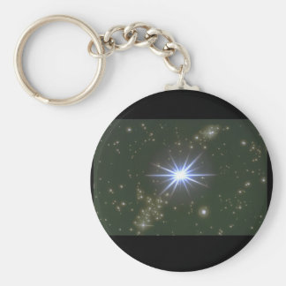 Stars. (galaxy;space;stars;color_Space Scenes Basic Round Button Key Ring