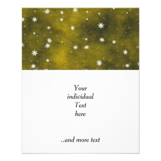 stars golden 11.5 cm x 14 cm flyer