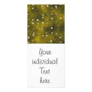 stars golden full colour rack card