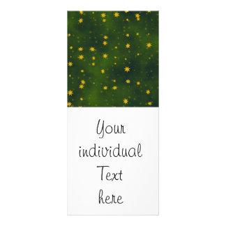 stars green custom rack cards