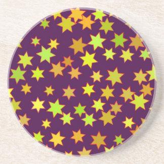 Stars illustration drink coaster
