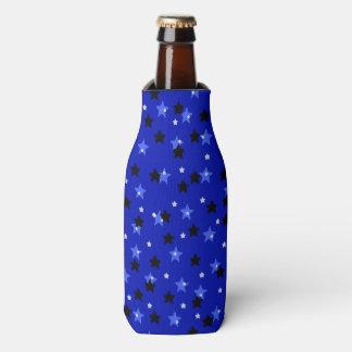 Stars in Black and Blue Bottle Cooler