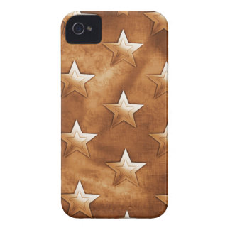 Stars in Brown Case-Mate iPhone 4 Case