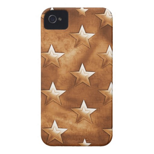 Stars in Brown iPhone 4 Cases