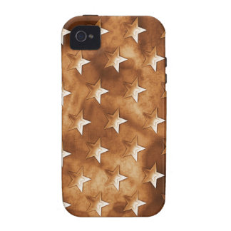 Stars in Brown iPhone 4 Cover