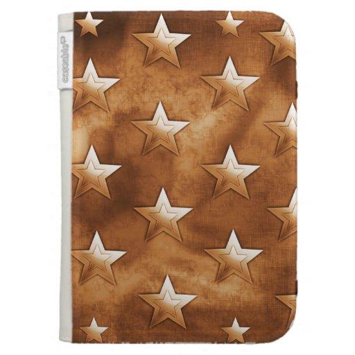 Stars in Brown Kindle Keyboard Case