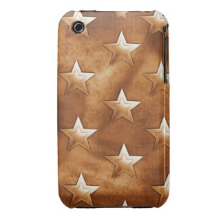 Stars in Brown iPhone 3 Case