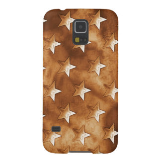 Stars in Brown Galaxy S5 Covers