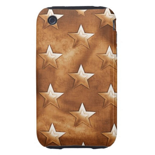 Stars in Brown iPhone 3 Tough Case