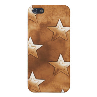 Stars in Brown Case For iPhone 5