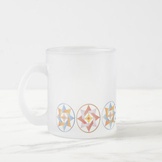 Stars in Circles Matching Set - Frosted Mug - 1