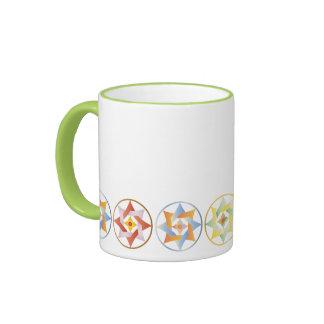 Stars in Circles Matching Set - Ringer Mug - 2