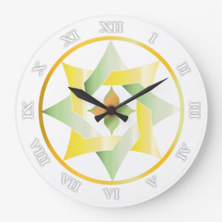 Stars in Circles Matching Set - Round Clock - 3