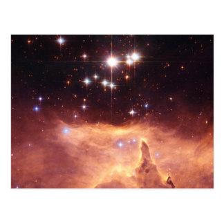 Stars in deep space postcard