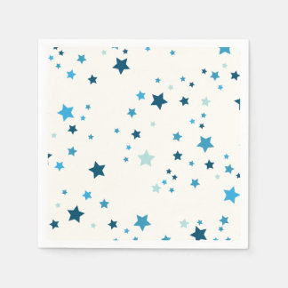Stars in multiple shades of blue paper serviettes