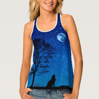 Stars in night sky singlet