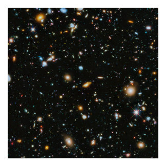 Stars in Space - Hubble Ultra Deep Field Poster