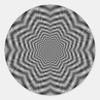 Stars in Stars in Monochrome Round Sticker
