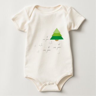 Stars in the forest - charming winter baby bodysuit