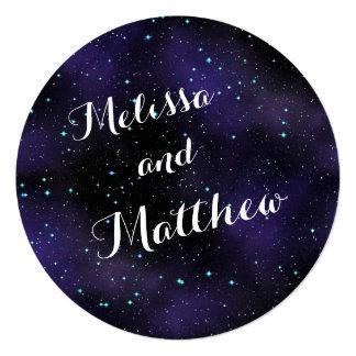 Stars in the Night Sky Round Wedding Invitation