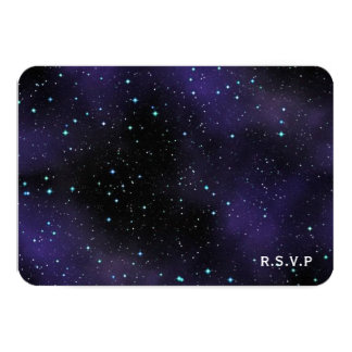 Stars in the Night Sky RSVP Wedding Response Card