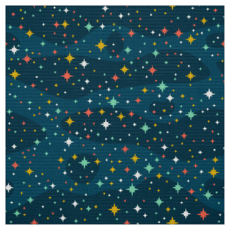 Stars in the sky fabric