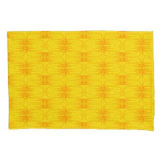 Stars Love Birth-day Bright Yellow Pillowcase