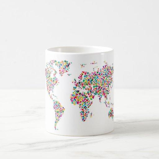 Stars Map of the World Map Mugs