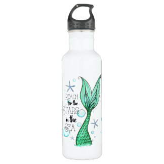 Stars & Mermaid Water Bottle (24 oz)