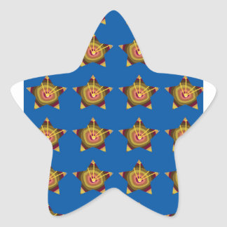 STARS n BLUE BASE: Art by NAVIN JOSHI lowprices Star Sticker