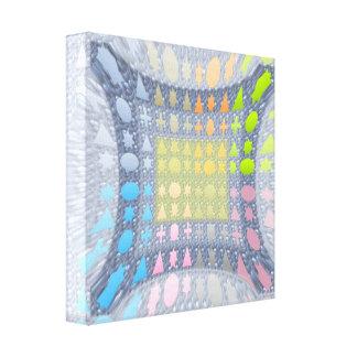 Stars n Shapes : Magic Carpet Stretched Canvas Print