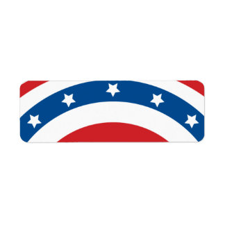 Stars n Stripes 04 - Small Rectangle Return Address Label