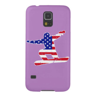 Stars 'n' Stripes SNOWBOARDER (wht) Case For Galaxy S5