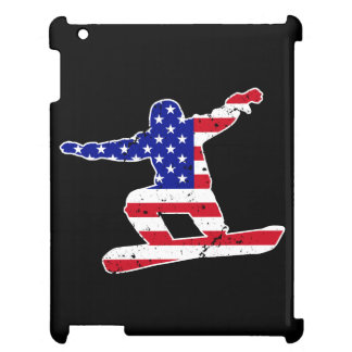 Stars 'n' Stripes SNOWBOARDER (wht) Cover For The iPad 2 3 4