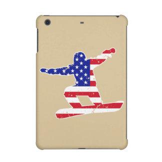 Stars 'n' Stripes SNOWBOARDER (wht) iPad Mini Retina Cover