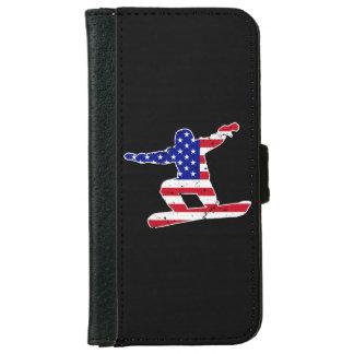 Stars 'n' Stripes SNOWBOARDER (wht) iPhone 6 Wallet Case