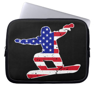 Stars 'n' Stripes SNOWBOARDER (wht) Laptop Sleeve