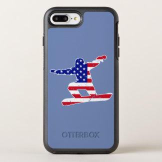 Stars 'n' Stripes SNOWBOARDER (wht) OtterBox Symmetry iPhone 8 Plus/7 Plus Case