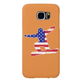 Stars 'n' Stripes SNOWBOARDER (wht) Samsung Galaxy S6 Cases