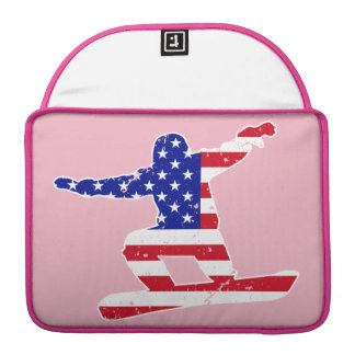 Stars 'n' Stripes SNOWBOARDER (wht) Sleeve For MacBook Pro