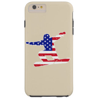 Stars 'n' Stripes SNOWBOARDER (wht) Tough iPhone 6 Plus Case