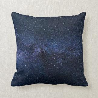 Stars Night Sky Midnight Blue & Black Milky Way Cushion
