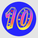 Stars Number 10 Stickers