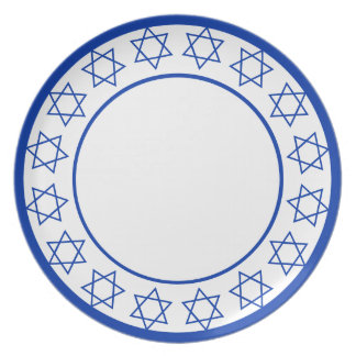 Stars of David Wreath Plate