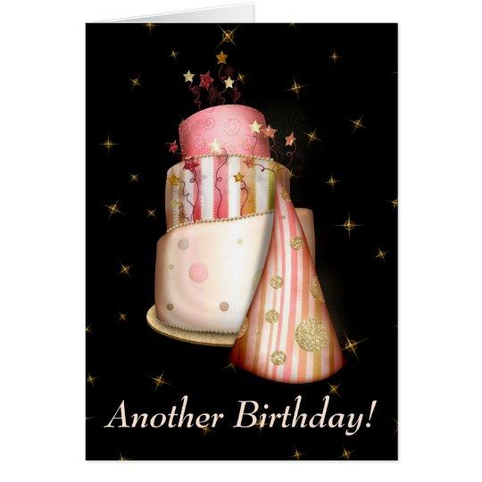 Stars on Black Birthday Images Card