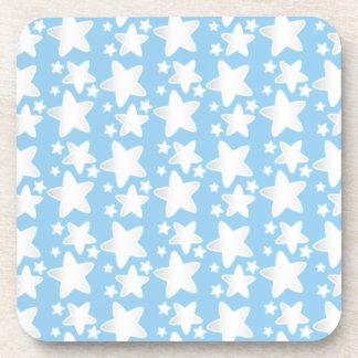 Stars on blue beverage coaster