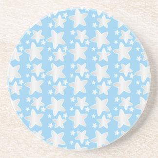 Stars on blue coaster