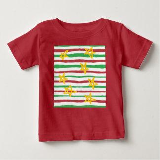 Stars on Christmas Stripes Baby T-Shirt