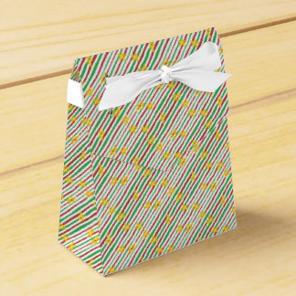 Stars on Christmas Stripes Favour Box